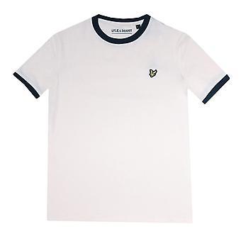 Boy's Lyle And Scott Infant Ringer T-Shirt en blanc