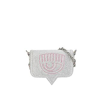 CHIARA FERRAGNI EYELIKE SILVER SMALL CROSSBODY BAG
