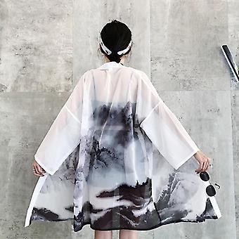 Ιαπωνικό πουκάμισο μπλούζας ενδυμάτων ενδυμάτων