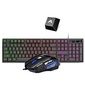 Gaming Keyboard And Mouse Wired Backlight Keyboard Kit For Pc, Laptop