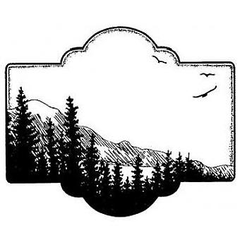 Creative Expressions Scenic View Pre Cut Stamp