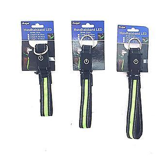 Náhrdelník Pes Nylon LED Stl M 40-48 cm