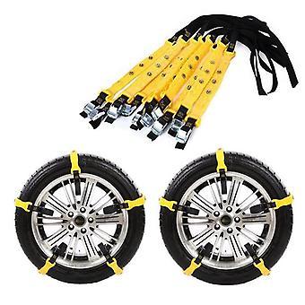 Tpu Auto Tire Snow Chains Anti-skip Belt Safe Driving For Snow Ice Sand Muddy