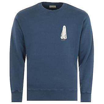 Nudie Jeans Co Frasse Ghost Sweatshirt - Indigo Blue