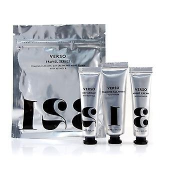 VERSO Travel Series Set: Foaming Cleanser 25ml + Day Cream 15ml + Night Cream 15ml 3pcs