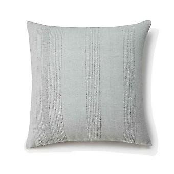 Spura Home Solid Sea Salt HandWoven Cotton Zip Contemporary 20x20 Pillow Cushion