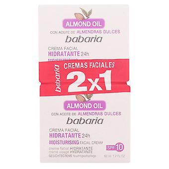 Babaria Moisturizing Gesichtscreme Mandeln Pack 2 Stück