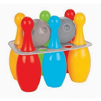 Pilsan Bowling Mini 06422, gra w kręgle dla dzieci z 6 kolorowymi stożkami i 2 kulkami