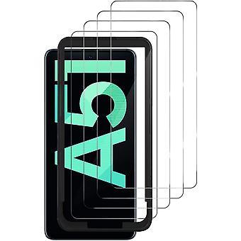 HaiFei 4 Stcke Schutzfolie kompatibel mit Samsung Galaxy A51/A52, HD Displayschutzfolie, 9H Hrte,