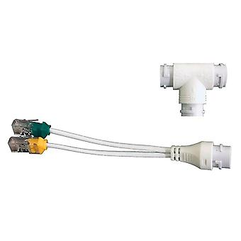 2-in-1 Network Cabling Connector Head For Security Camera