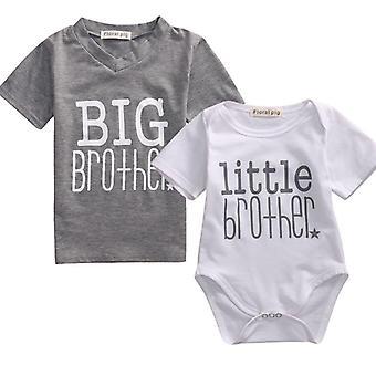 משפחה תואמת בגדים, מכתב אח קטן, חמוד תינוק romper מזדמנים