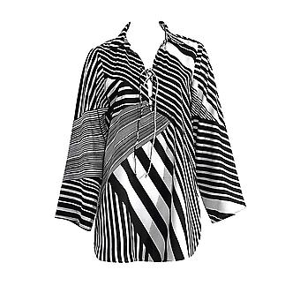 Sunflair Plant Lovers 23814-901 Women's Black-White Striped Cover Up