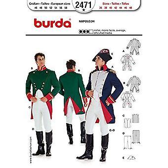 Burda Mens Sewing Pattern 2471 - Mens Napoleon Costume Sizes 36-48