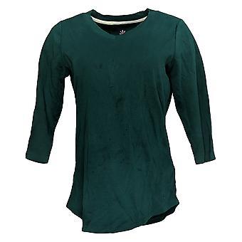 Isaac Mizrahi En direct! Femmes's Top 3/4 Sleeve Tunic Green A278784