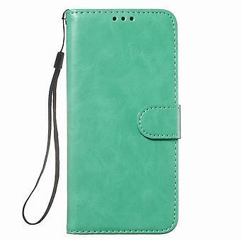 Schutzleder Brieftasche Fall für Samsung Galaxy S20 Ultra 6.9 - Grün