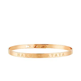 'apos'HAKUNAMATATA'apos; roze rush armband met boodschap
