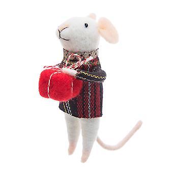 Sass and Belle Tartan Mouse Christmas Dec