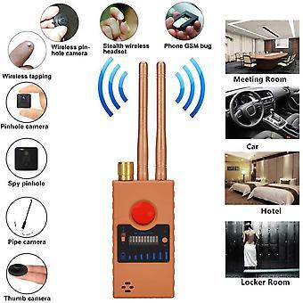 جاسوس كاميرا كاشف للكاميرا الخفية ليزر GSM عدسة الاستماع جهاز الباحث اللاسلكي RF Pushpin كاشف إشارة رادار راديو الماسح الضوئي اللاسلكي إنذار (الأصفر)