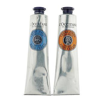 L'Occitane Shea Butter Hand & Foot Kit: Hand Cream 75ml/2.6oz + Foot Cream 75ml/2.6oz 2pcs