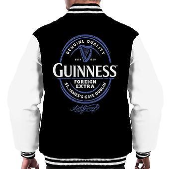 Guinness Foreign Extra Blue Label Men's Varsity Jacket