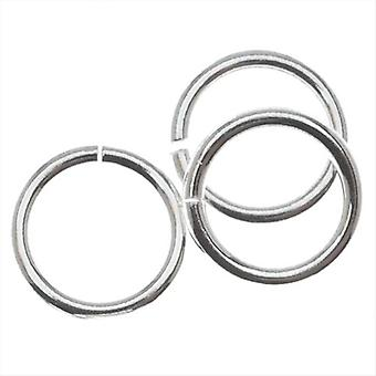 Silver Filled Open Jump Rings 8mm 18 Gauge (10)