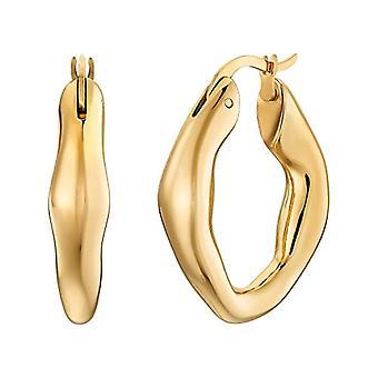 NOELANI Women's stainless steel hoop earrings IP Gold(2)