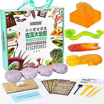 4pcs alte Jade Set B Archäologie Biologie Graben und Ausgrabung Kinder Wissenschaft Kits
