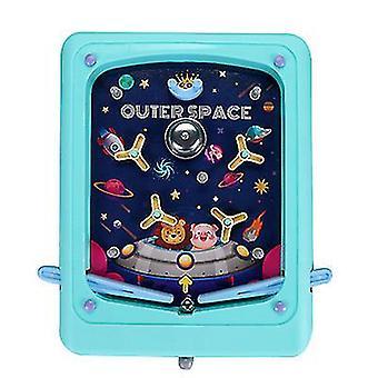 Blaue kreative Kinder Flipper Spiel Cartoon Handheld Spiel Maschine Labyrinth Auswurf Spiel Maschine az16138