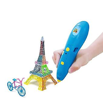 Blue pcl low temperature 3d printing pen for childrenusb charging cable x6703