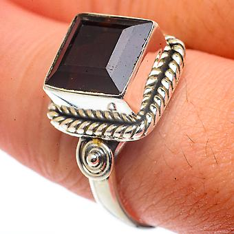 Smoky Quartz Ring Size 9.75 (925 Sterling Silver)  - Handmade Boho Vintage Jewelry RING66544