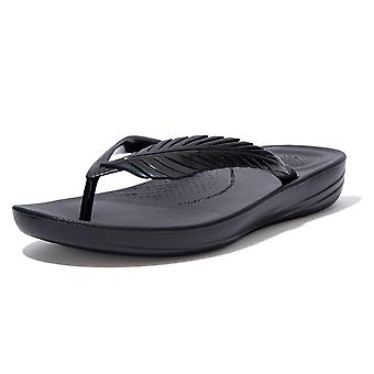 FitFlop Fitflop Iqushion Feather Toe Post Sandalias en All Black