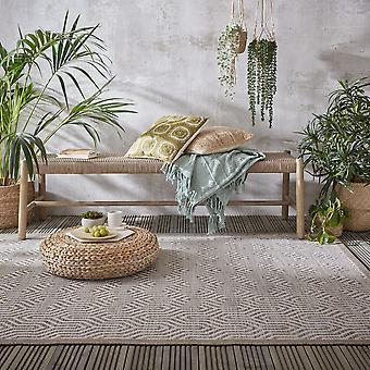 Lipari Bellizi Outdoor Indoor Flatweave Rug In Grey