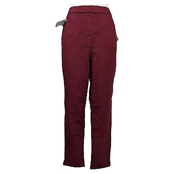 Quacker Factory Leggings DreamJeannes Pull-On with Pockets Red A343011