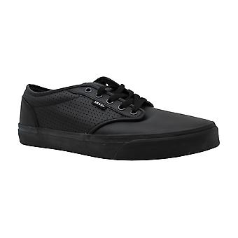 Vans Mens Leather Low Top Lace Up Fashion Sneakers