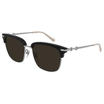 Gucci Black Rectangular Mens Sunglasses