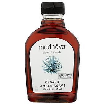 Madhava Honey Agave Nectar Amber Org, Case of 6 X 23.5 Oz