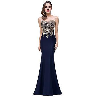 Sexy Mermaid Lace Long Prom Robes, Robe de soirée