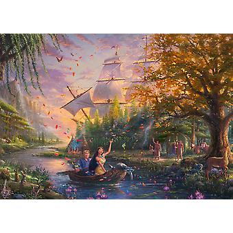 Schmidt Kinkade Disney Pocahontas Jigsaw Puzzle (1000 Pieces)