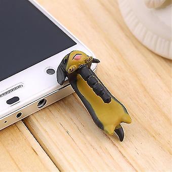 3,5 mm teckel puppy hond stof plug mobiele telefoon oor anti stof jack plug oor cap