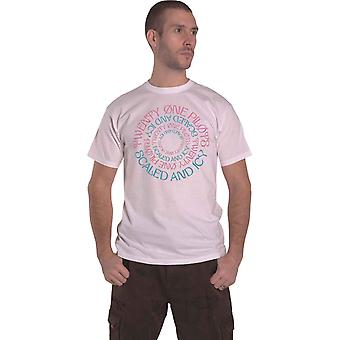 T Shirt Scaled and Icy Circular Band Logo Official Mens White