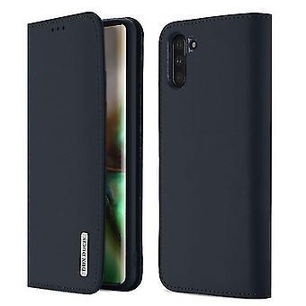 Huawei P20 Lite Premium Nahkakotelon kansi - Tummansininen
