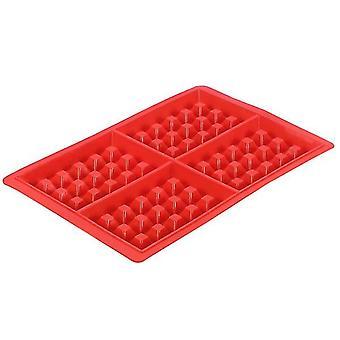 Silicone square heart shaped waffle cake mold(Rectangle)