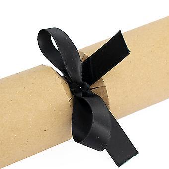 LAST FEW - 16 Ready Made Cracker & Gift Bows - Black Satin