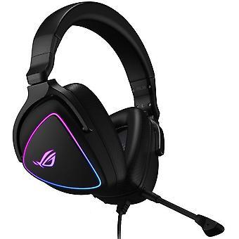 Asus ROG DELTA S RGB Lightweight Gaming Headset, USB-C (adaptador USB2), Hi-Fi ESS Quad-DAC, Boom Mic, Aura Sync