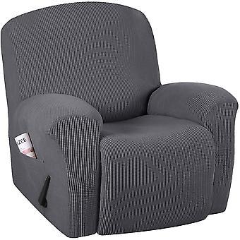 Vilbara soffskydd sträcker lutande soffskydd för 1/2/3 kudd soffa möbler skydd funktion med elastisk botten, grå