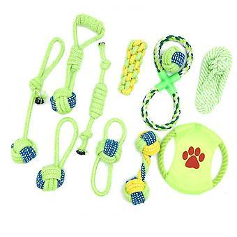 Lemmikkieläintarvikkeet Puuvilla Köysi Koira Leluse setti (Color2)