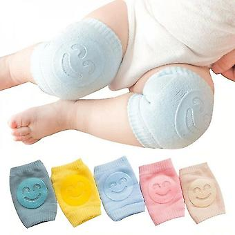 5 Pairs Of Non-slip Baby Knee Pads Cotton Distribution Crawling Knee Pads Elastic Leg Warmers