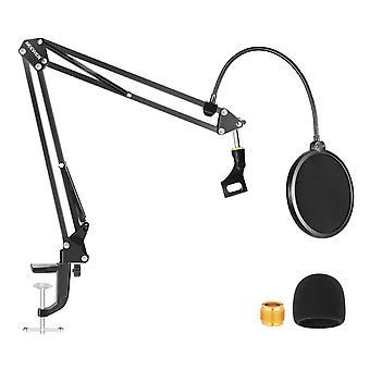 Microphone Stand With Microphone Windscreen Foam - Suspension Boom Scissor