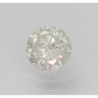 Sertifioitu 0,55 karat E SI2 pyöreä brilliant parannettu luonnon timantti 5,1mm 3VG