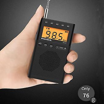 FM Radio 64 108 MHZ Mini přenosný stolní LCD displej ATS Vyhledávání
